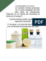 El Bicarbonato de Sodio y Tu Salud