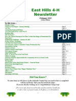 east hills 4-h newsletter february 2013 online edition