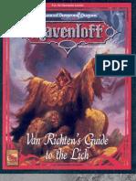TSR 9412 RR6 Van Richten's Guide to the Lich