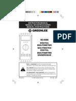 Greenlee 93-606 Digital Multimeter