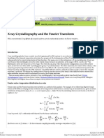 Xray Crysto N Fourier Transform