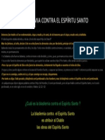 LA BLASFEMIA CONTRA EL ESPÍRITU SANTO