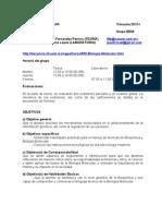 Temario Desglosado y Programacion Biologia Molecular 13-I