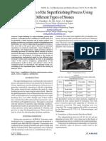 Optimization of the Superfinishing Process UsingDifferent Types of Stones