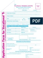 Vocational Trg. Form for Railway