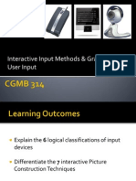 Chapter 7 - Interactive Input Methods and GUI