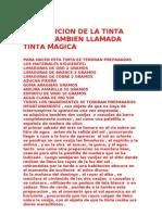 Composicion de La Tinta Aurea Tambien Llamada Tinta Magica