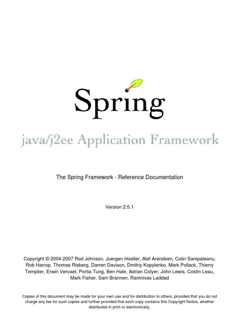 Spring Reference | Spring Framework | Software Design