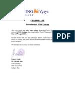 Certificate Ing