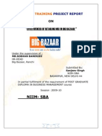 36829937 Summer Training Project Report on BIG BAZZARrrrrrrcccd