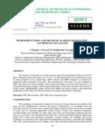 Microstructural and Mechanical Behaviour of Zinc-Aluminium Cast Alloys