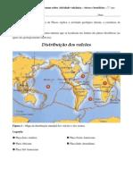 Resumo sobre a atividade vulcânica - riscos e benefícios - CN - 7.º ano