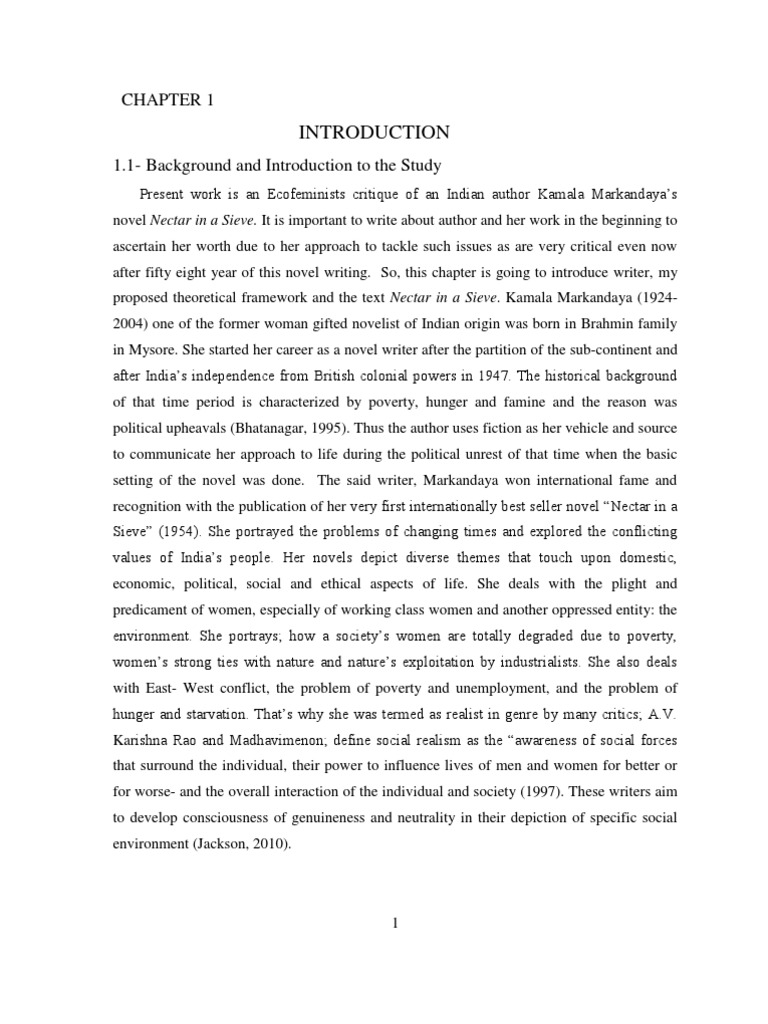 Need help writing my paper celebrating womanhood in kamala markandaya?s nectar in a sieve