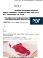 Eating Too Much Red Meat Could Increase the Risk of Alzheimer'S_ Scientists Warn Build-up of Iron May Damage the Brain _ Mail Online