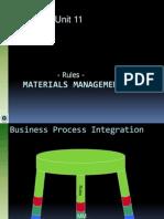 Unit11 MaterialsManagement Rules