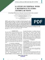 A CLINICAL STUDY ON VERTIGO WITH SPECIAL REFERENCE TO AUDIOVESTIBULAR TESTS
