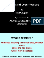Australia and Cyber Warfare Aiia Qld June 2011 Ppt. (1)