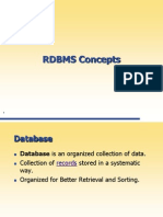 1 RDBMS Concepts