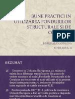 6.Bune Practici in Utilizarea Fondurilor Structurale Si de Coeziune