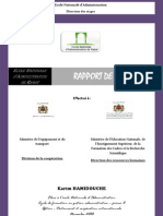 rapport de stage ministère de lEquipement et des Transports