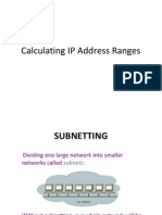 Calculating IP Address Ranges VER2