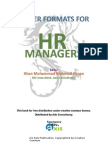 Letter Format for Hr Managers