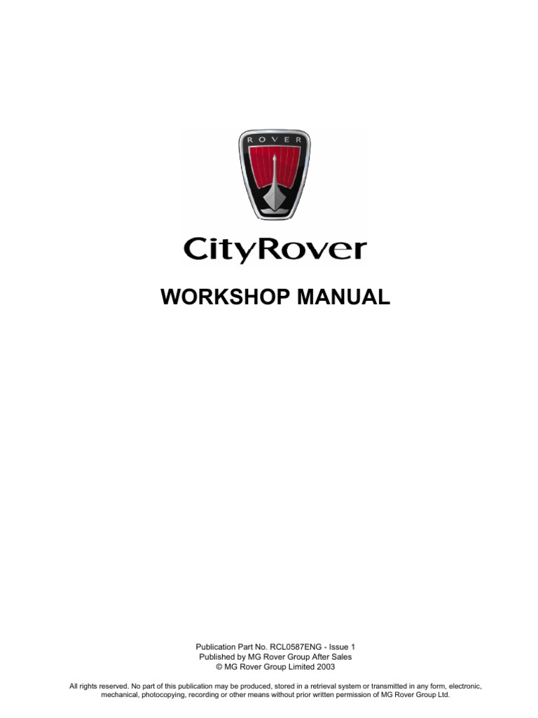 cityrover workshop manual | throttle | fuel injection city rover fuse box location honda city fuse box symbols scribd