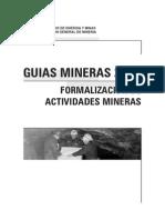 Formalizacion de Actividades Mineras