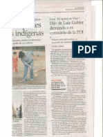 """El Mercurio, """"Hijo de Luis Gubler demanda a Nelson Lillo"""", Agosto 2013"""