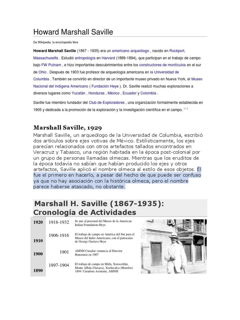 Howard Marshall Saville
