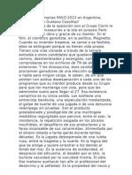 Elecciones Primarias PASO 2013 en Argentina