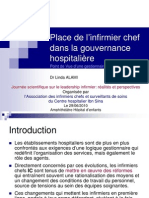 Place Infirmier Chef Gouvernance Hospitaliere