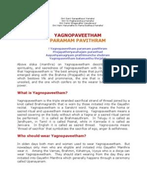 YAGNOPAVEETHAM - PARAMAM PAVITHRAM   Hindu Philosophy