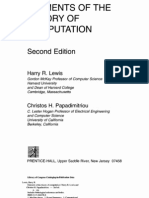 Elements of Theory of Computation 2ed Lewis Papadimitriou