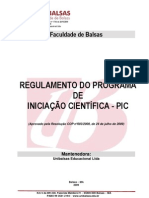 Anexo I Regulamento PIC-2013