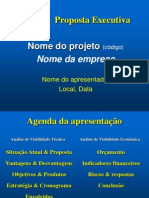 Gabarito Da Proposta Executiva (Fundo Azul)