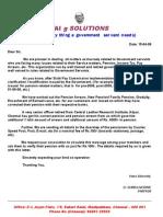 sai g solution pension associaition letter