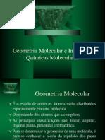 Geometria Molecular e Interações Químicas Moleculares