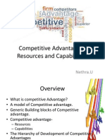 Competitive Advantage – Resources and Capabilities