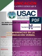 INTERFERENCIAS EN LA COMUNICACIÓN VERBAL (FAHUSAC 2012)