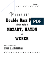 Zimmerman - The Complete Double Bass Parts Selected Works of Mozart, Haydn and Weber