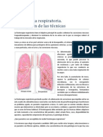 Fisioterapia Respiratoria Descripcion de Tecnicas