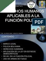 DERECHOS HUMANOS APLICABLES A LA FUNCIÓN POLICIAL