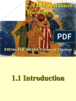 1.0 History of Old Testament Theology