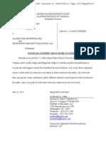 FrontPoint Security Lawsuit Disclosure Statement