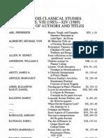 Index - 1989 - Illinois Classical Studies