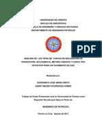 Analisis de Los Tipos de Curvas de Declinacion de Produccion