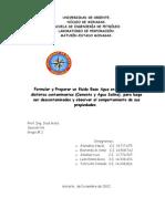 Formular y Preparar Un Fluido Base Agua en Presencia de Distintos Contaminantes (Cemento y Agua Salina)