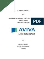 Study of Recruitment & Selection Process in Aviva Life InsuranceBy Saumya Mehta