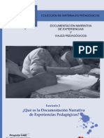 Documentación narrativa de experiencias pedagógicas